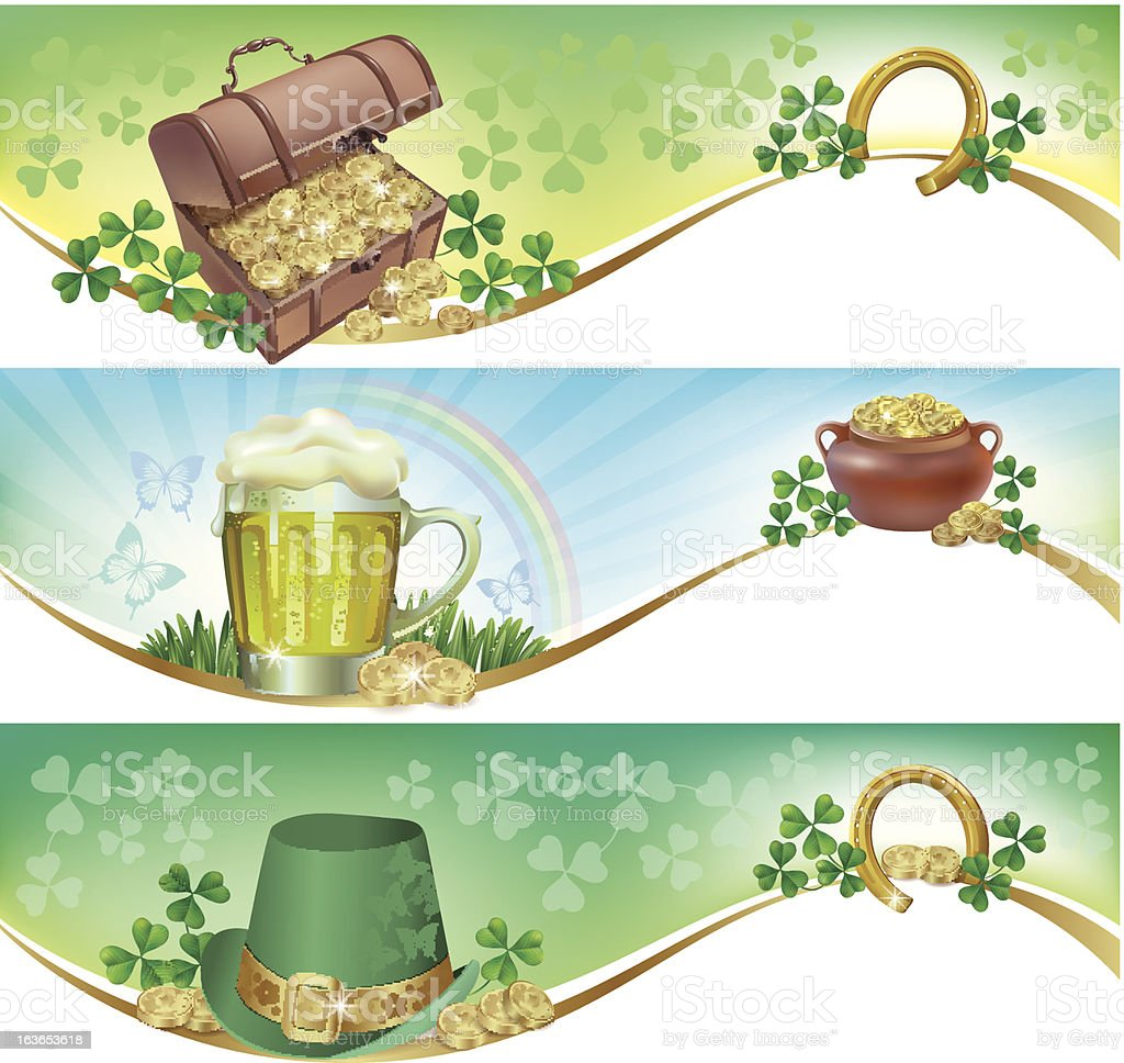 St. Patrick's Day horizontal banners royalty-free stock vector art