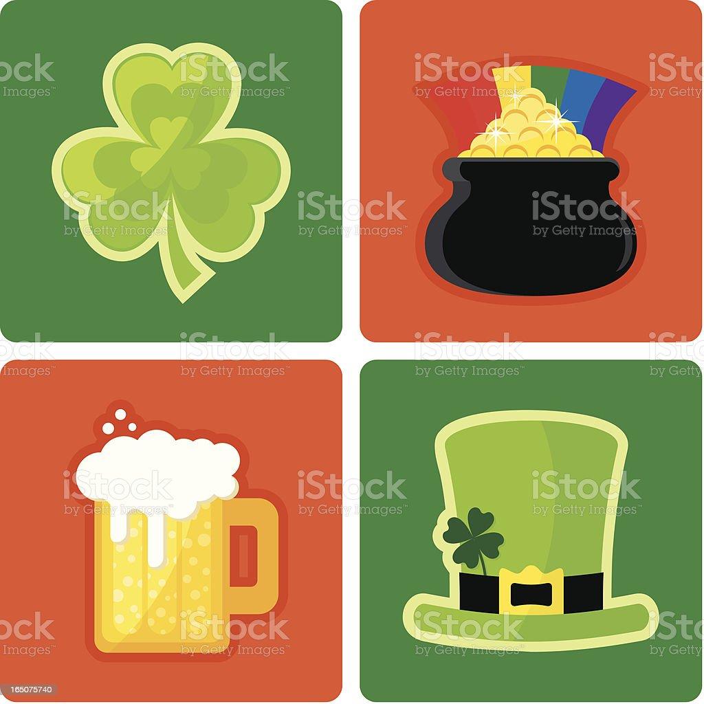 St.  Patricks Day, Irish icons royalty-free stock vector art