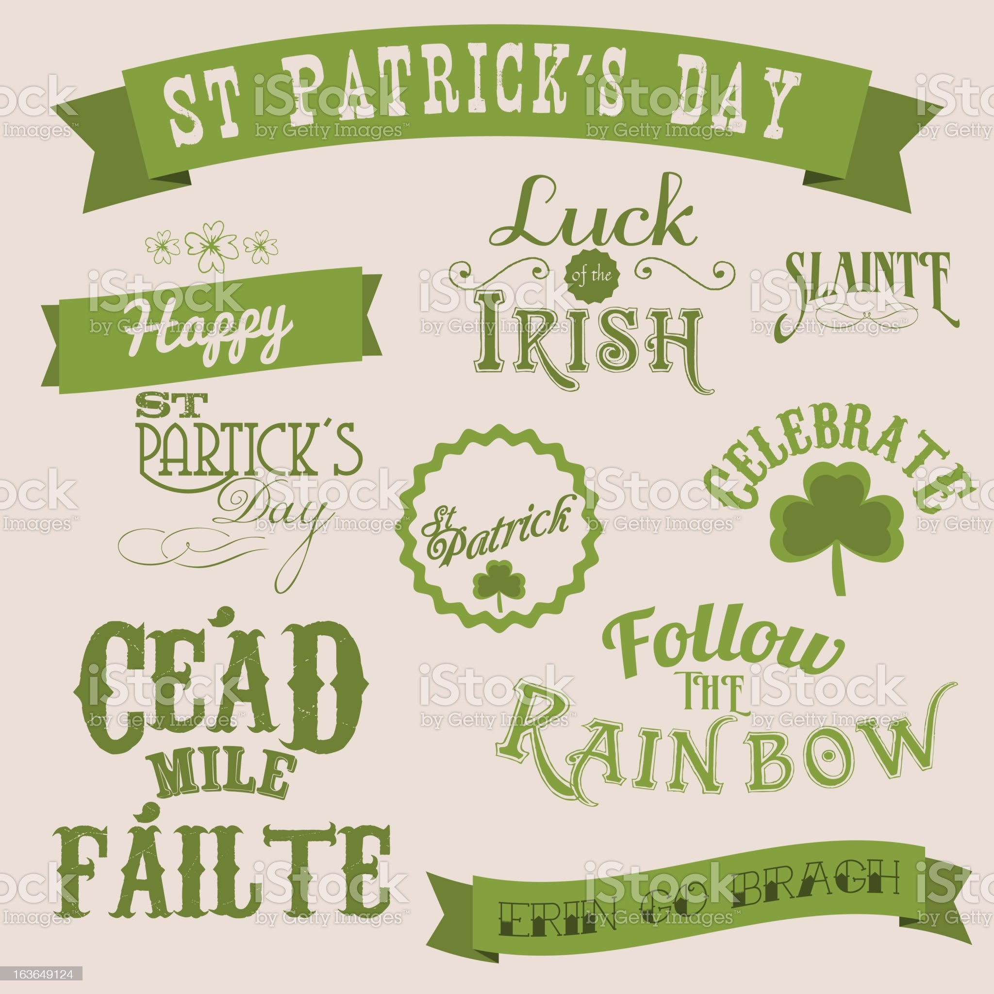 St Patrick's day labels royalty-free stock vector art