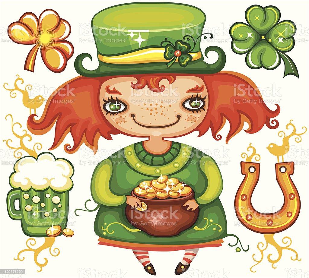St. Patrick's Day  leprechaun series 2 royalty-free stock vector art