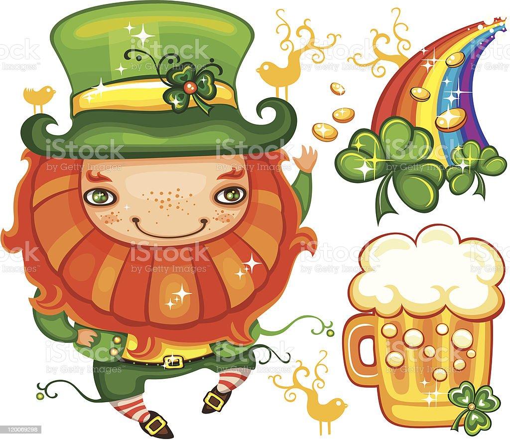 St. Patrick's Day leprechaun series royalty-free stock vector art