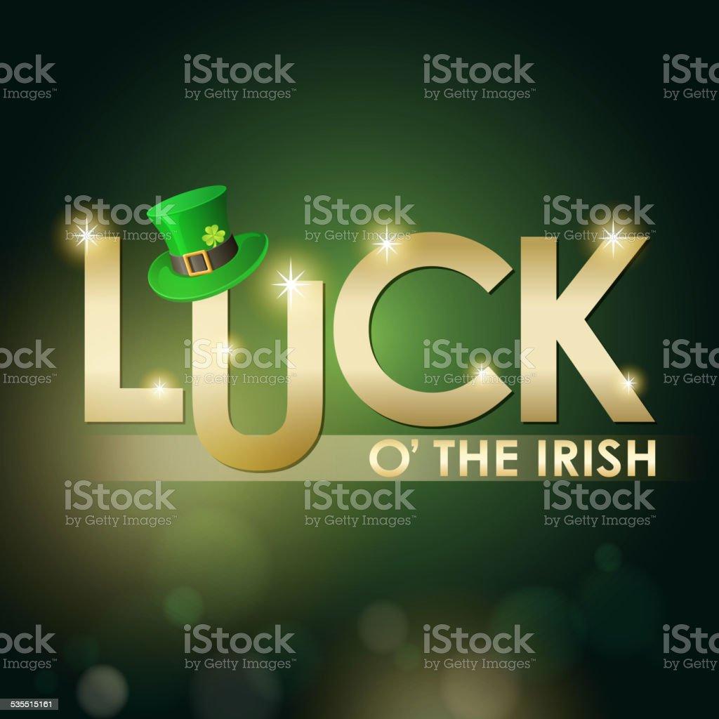 St. Patrick's Day Luck of the Irish vector art illustration