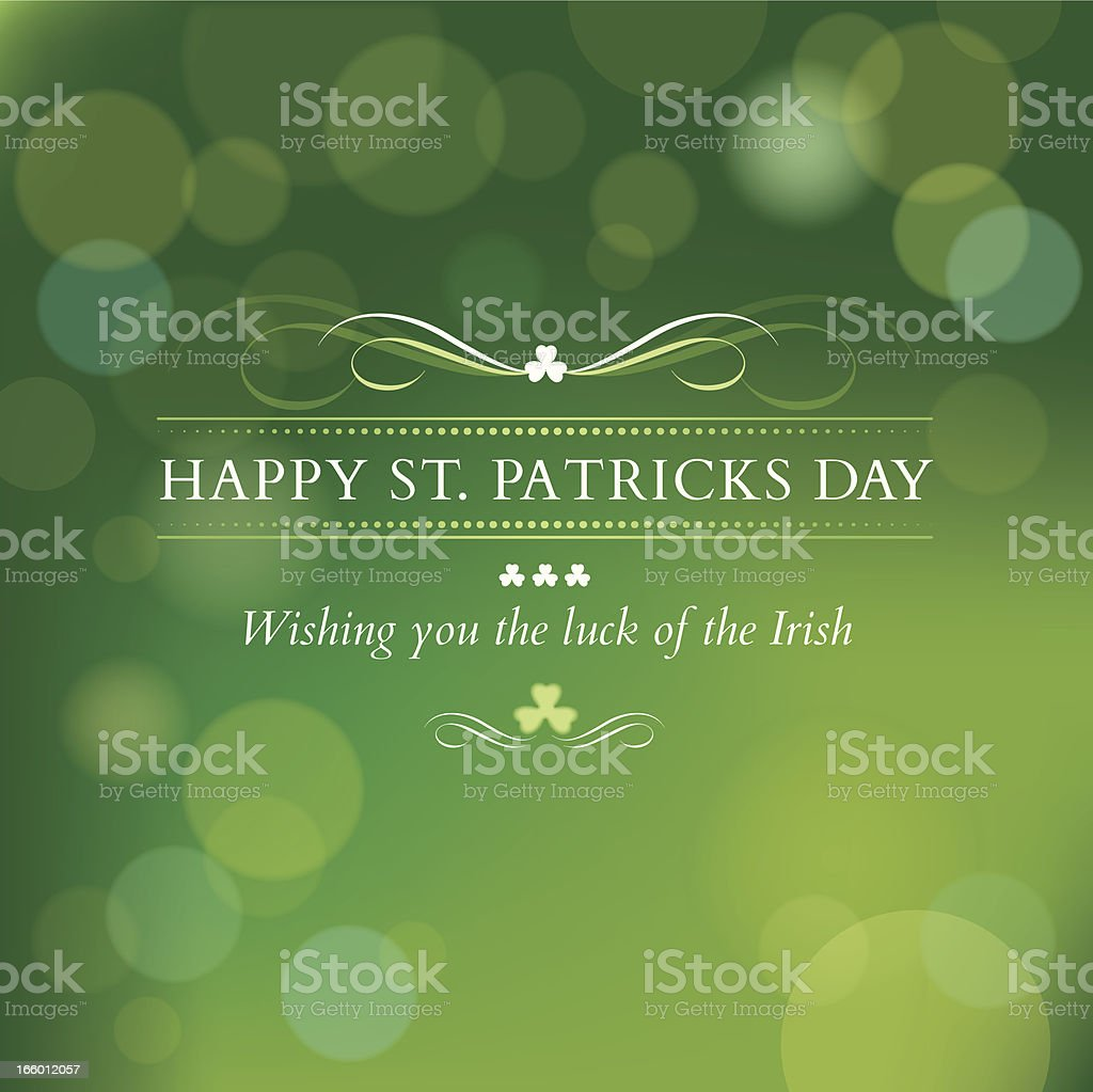 St. Patricks Day message vector art illustration