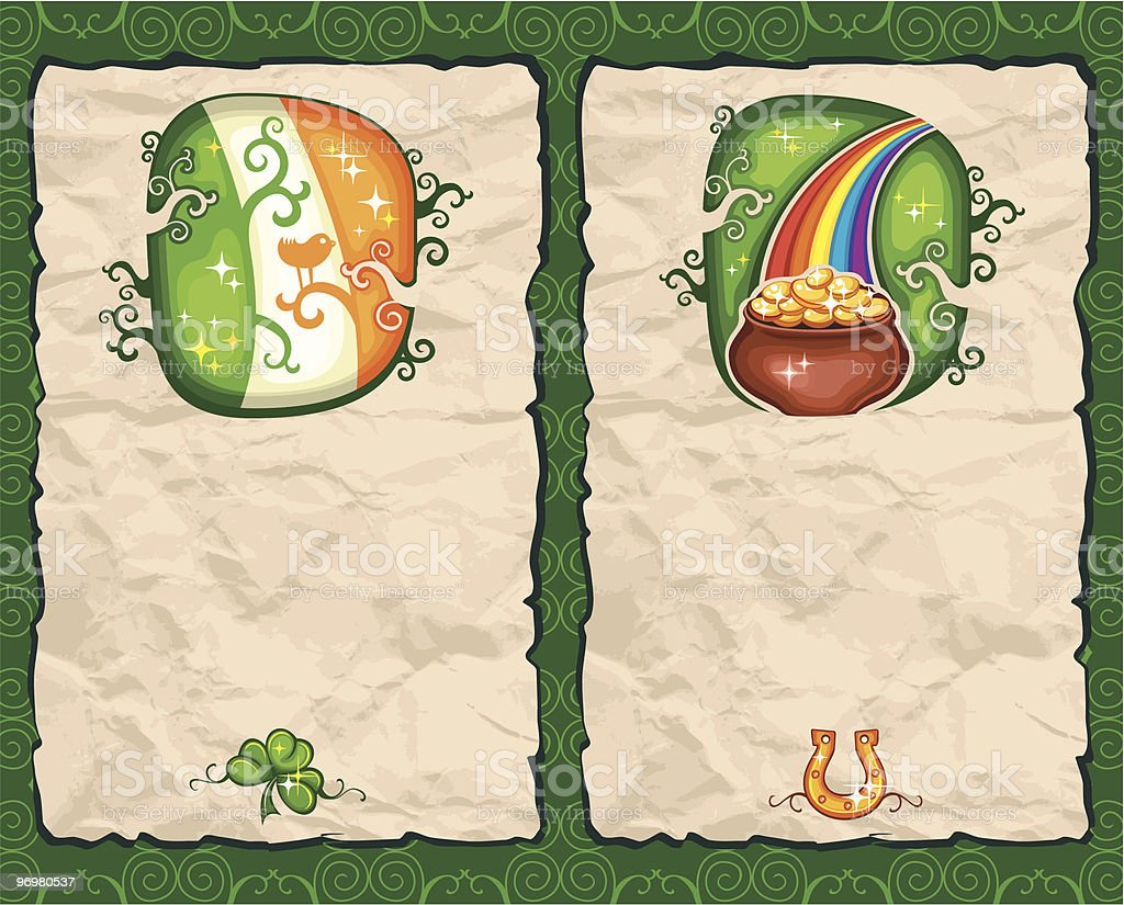 St. Patrick's Day paper backgrounds series 3 royalty-free stock vector art
