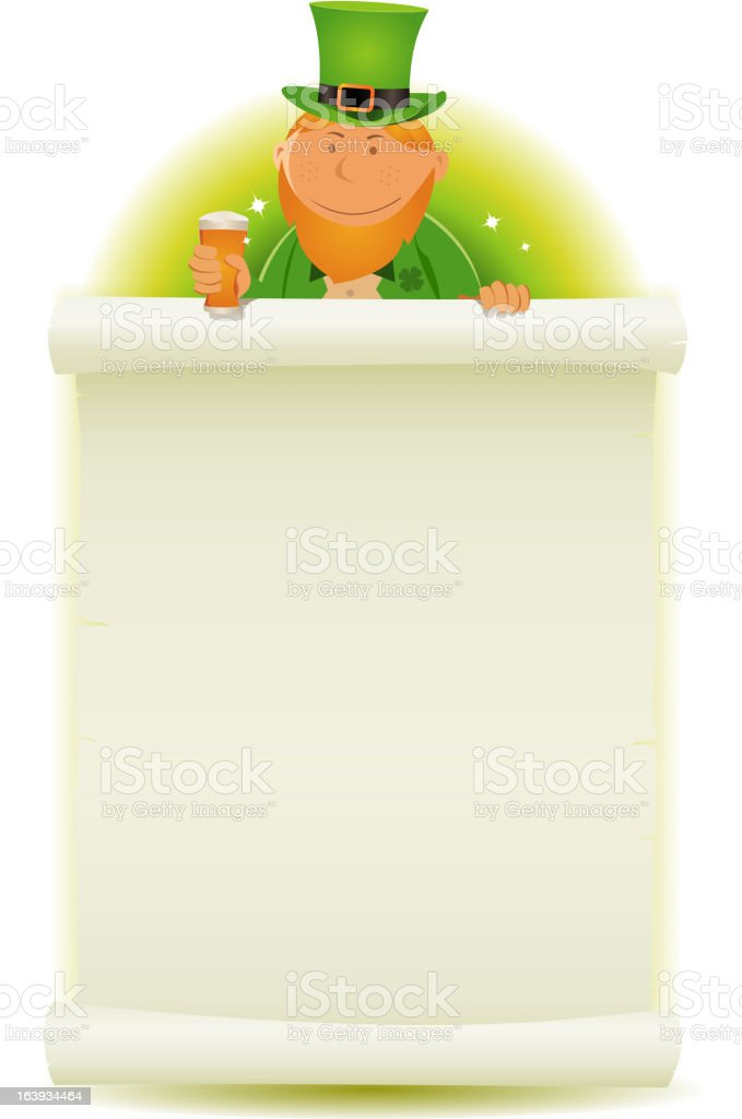 St. Patrick's Day Parchment Background royalty-free stock vector art
