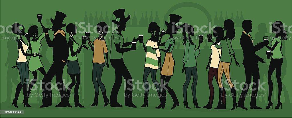 St Patrick's Day Party vector art illustration