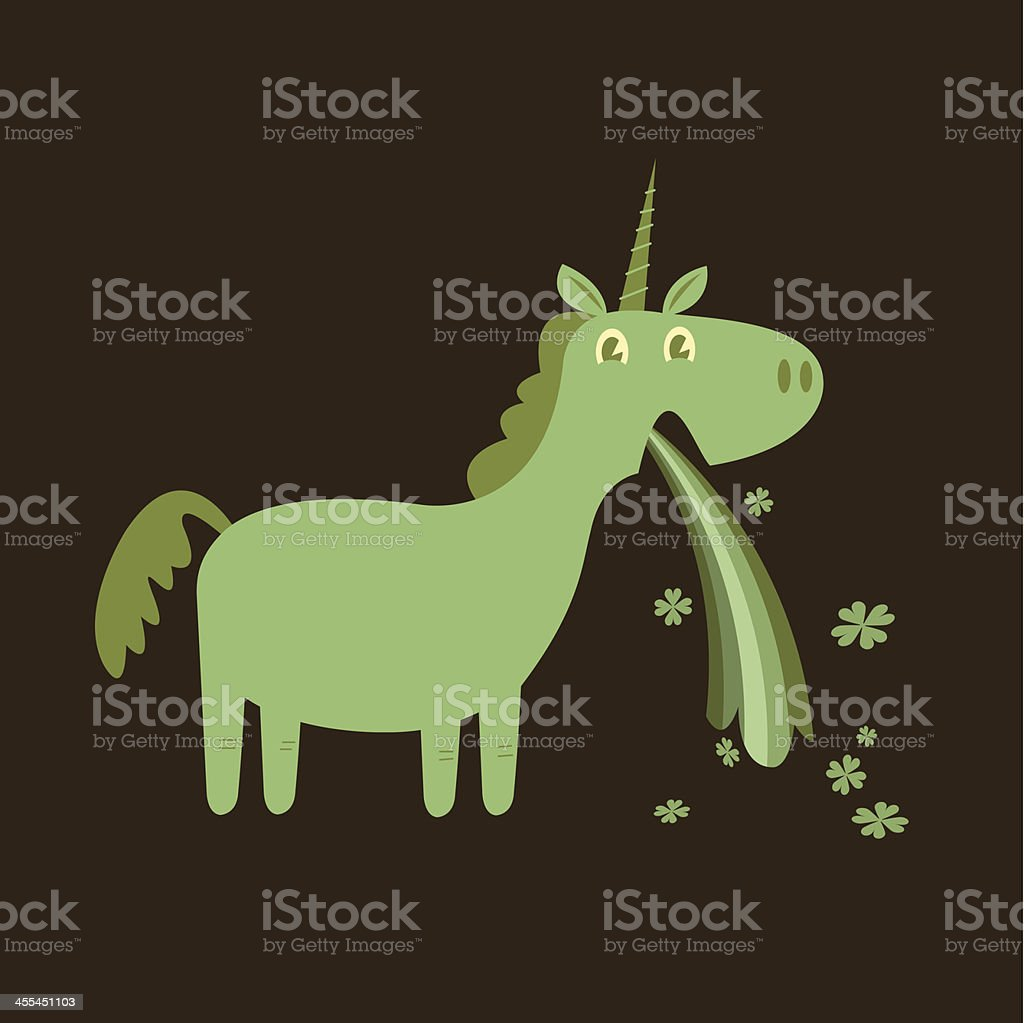 St Patrick's Day Puking Shamrocks royalty-free stock vector art