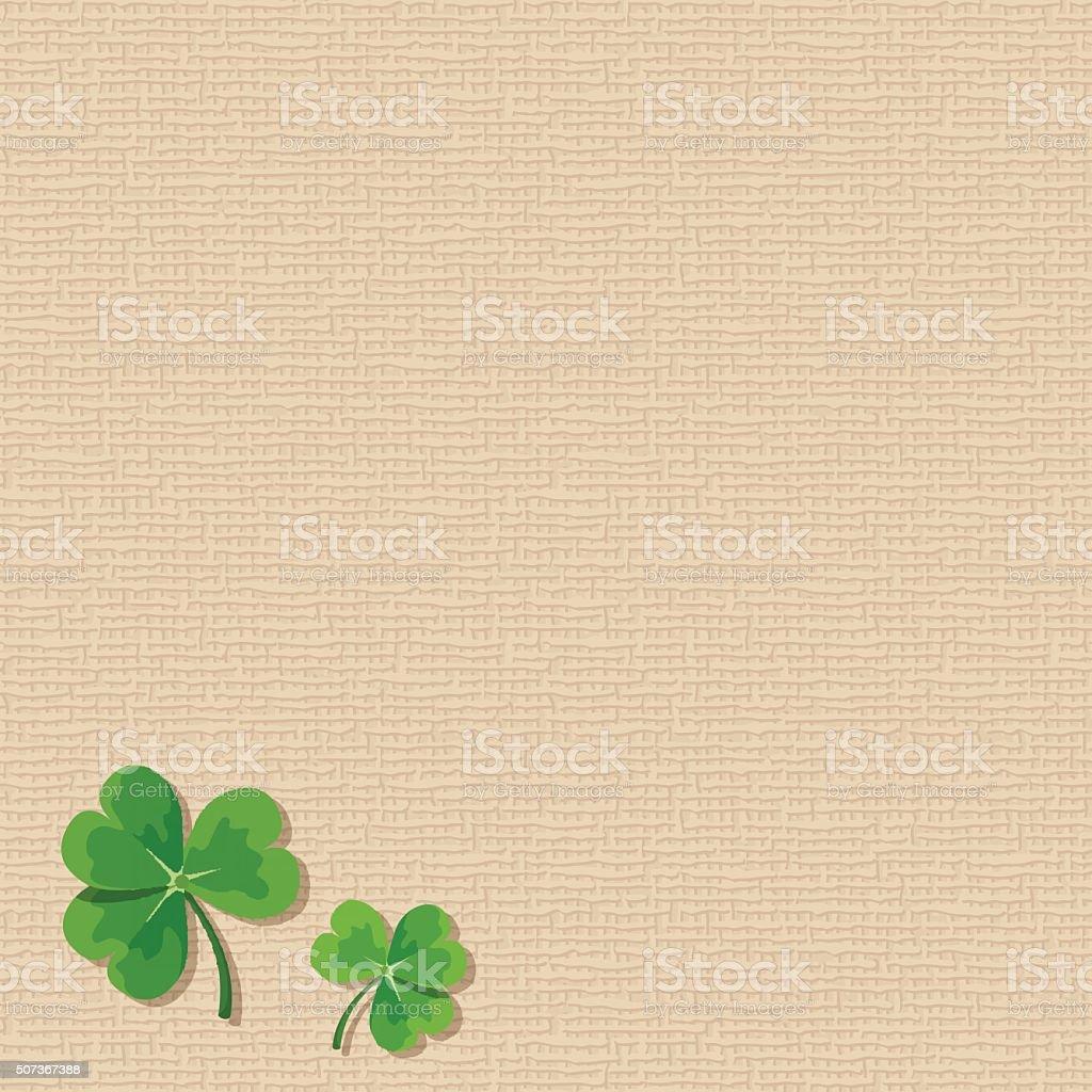 St. Patrick's day sacking background with shamrock leaves. Vector eps-10. vector art illustration