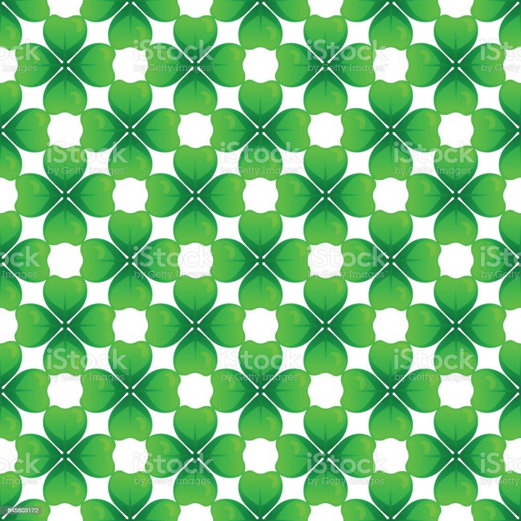 st patricks day seamless pattern vector art illustration