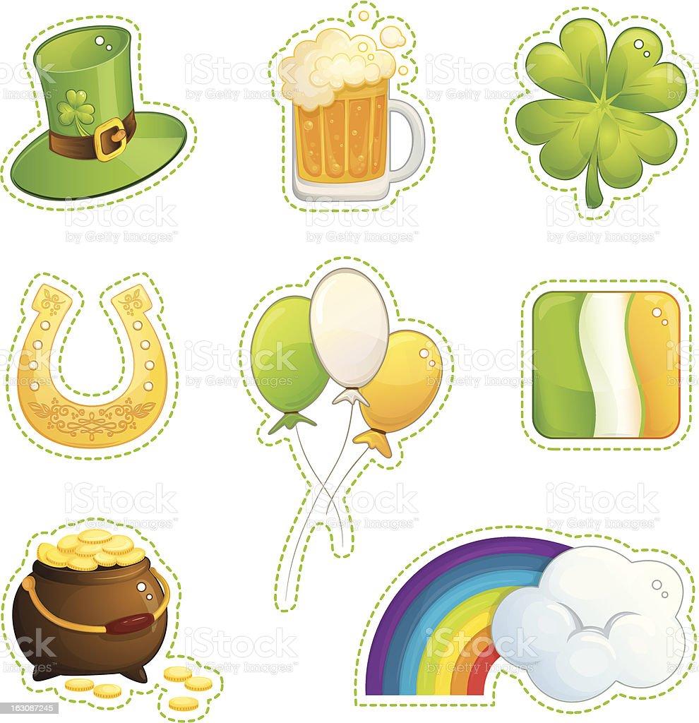 St. Patrick's Day set royalty-free stock vector art