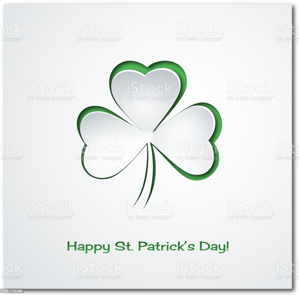 A St. Patrick's day themed card royalty-free stock vector art