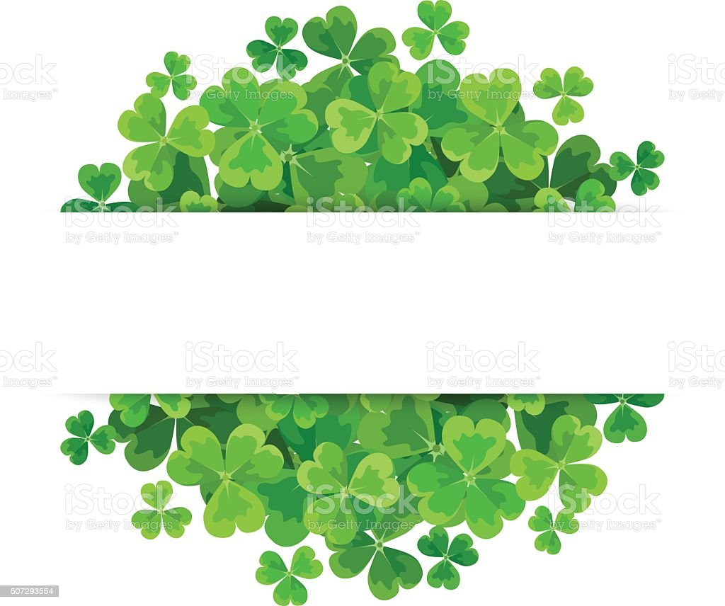 St. Patrick's day vector background with shamrock. vector art illustration