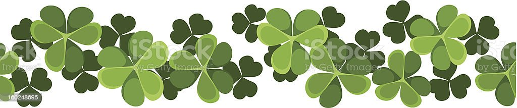St. Patrick's day vector horizontal seamless background with shamrock. royalty-free stock vector art