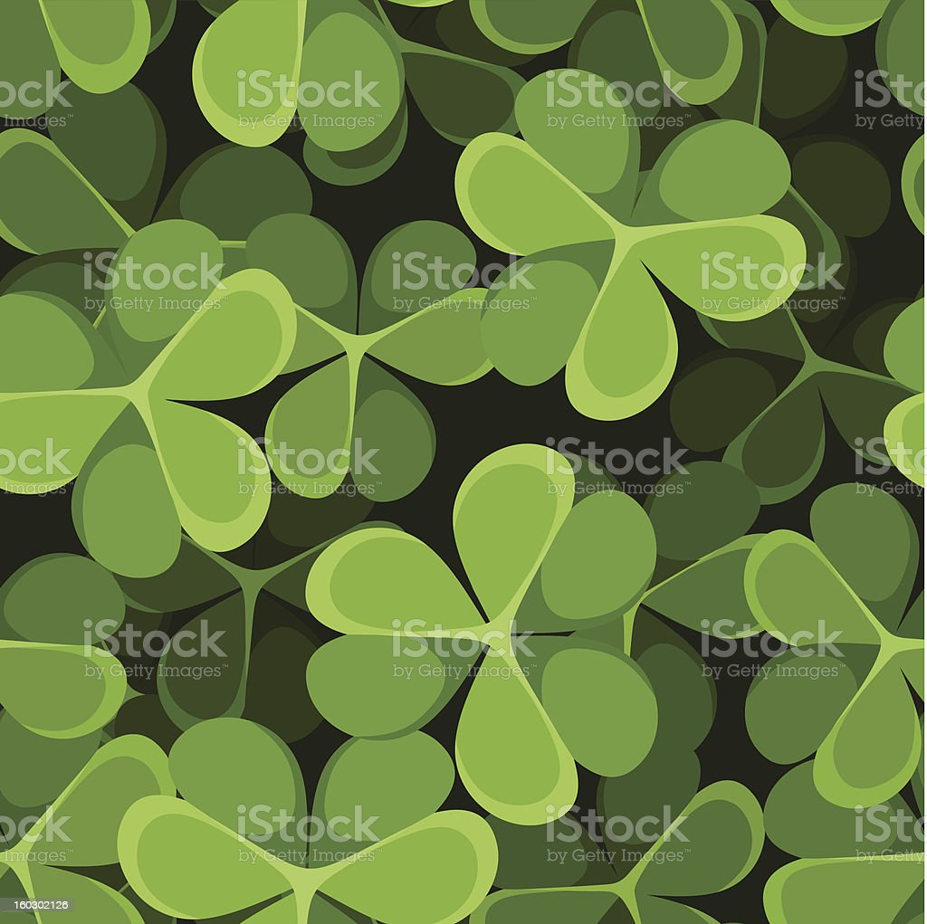St. Patrick's day vector seamless background with shamrock. royalty-free stock vector art