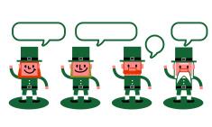 St. Patrick's Day-Leprechaun characters vector art illustration