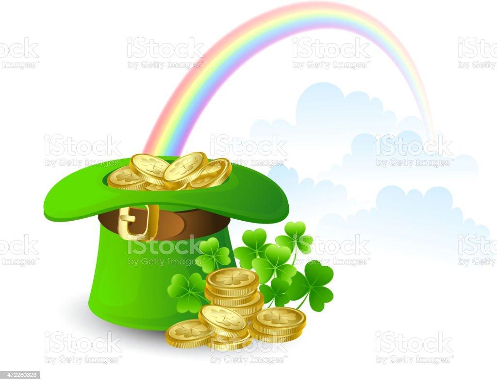 St. Patrick's hat royalty-free stock vector art