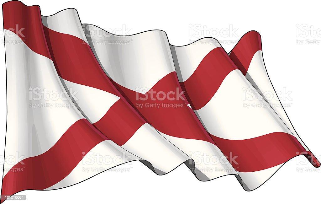 St Patrick's Saltire (Northern Irish Flag) royalty-free stock vector art