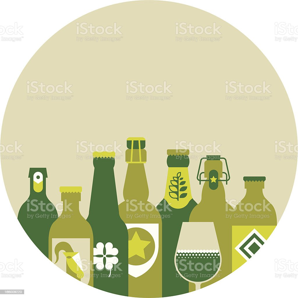 St. Patric's day composition vector art illustration