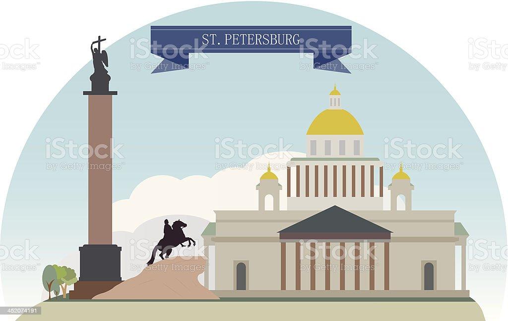St. Petersburg royalty-free stock vector art