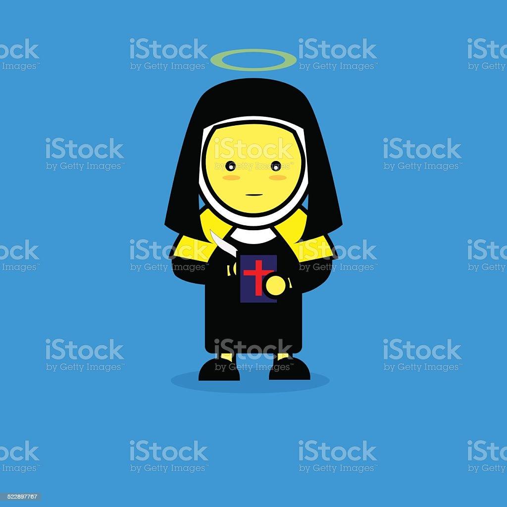 St. Teresa of Avila, Cartoon. vector art illustration