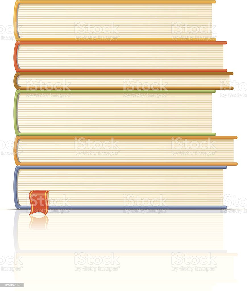 Stack books royalty-free stock vector art