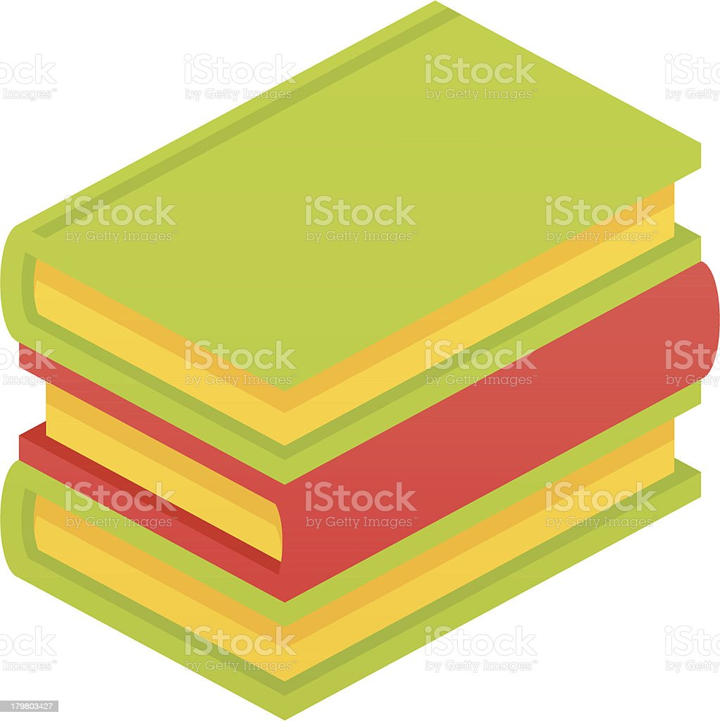 Stack of a book royalty-free stock vector art