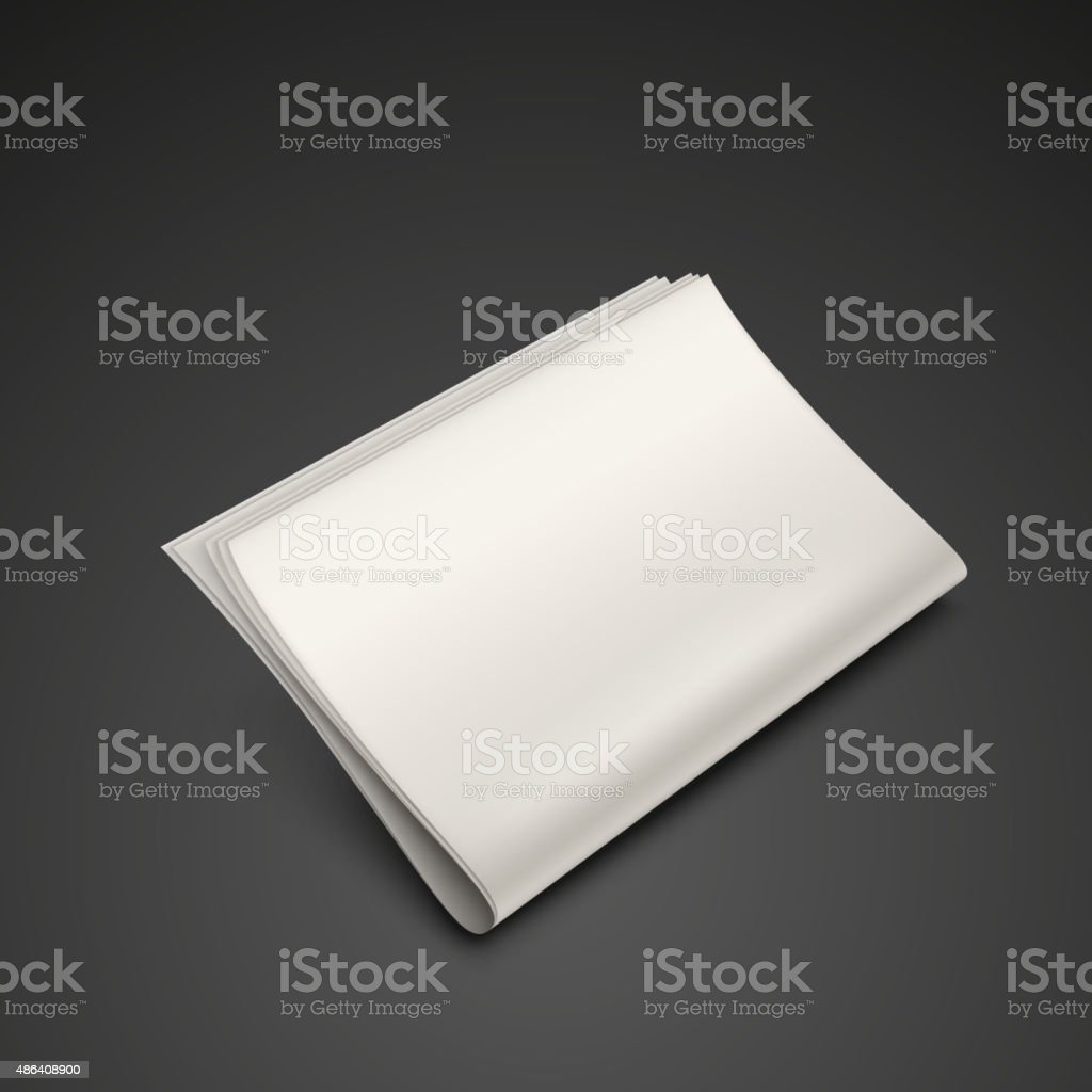 stack of blank newspapers vector art illustration