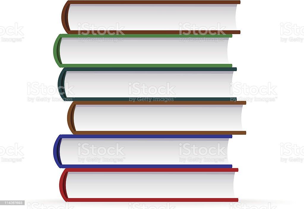 Stack of books - 1 credit vector art illustration