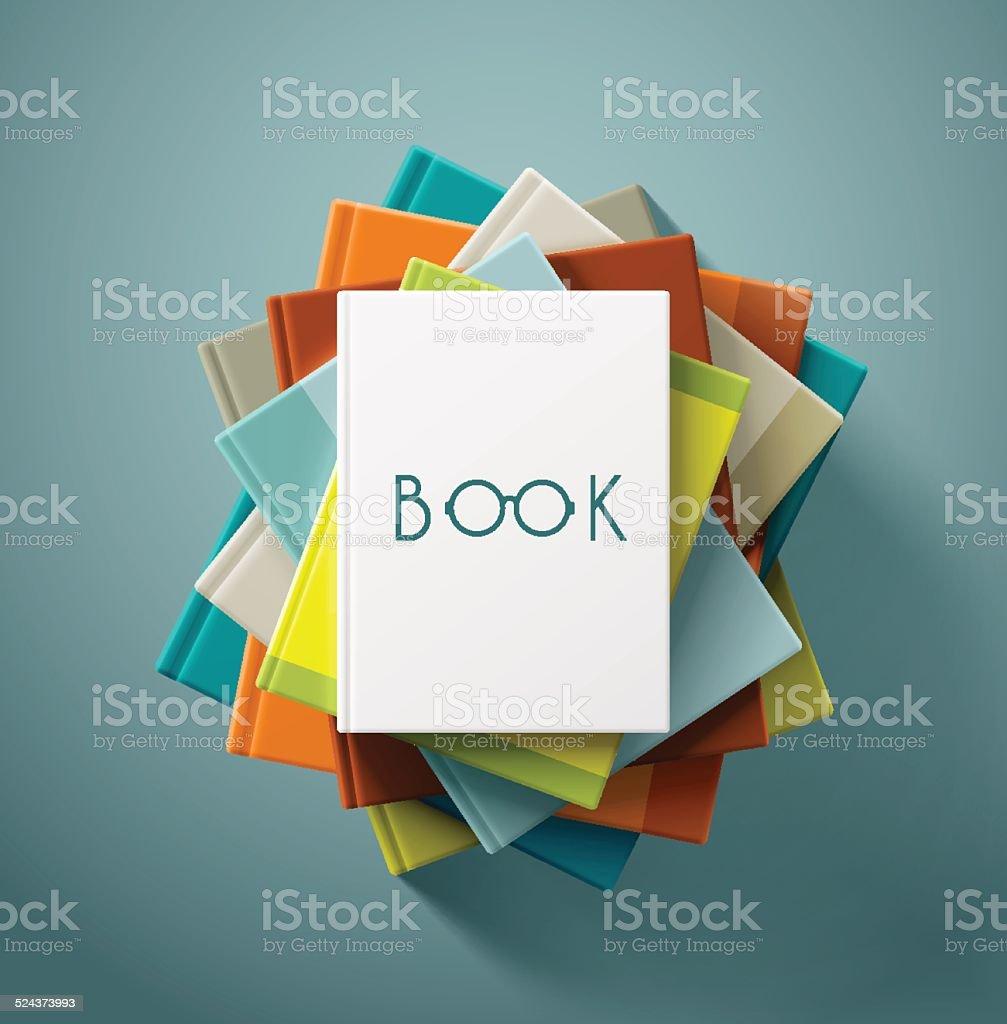 Stack of Books vector art illustration