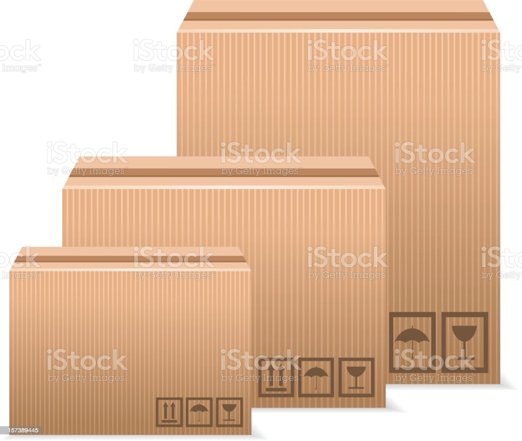 Stack of boxes vector art illustration
