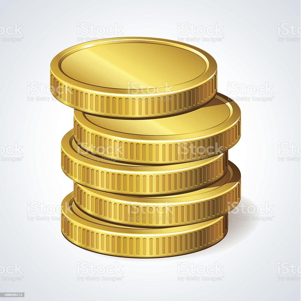 Stack of coins, money vector art illustration