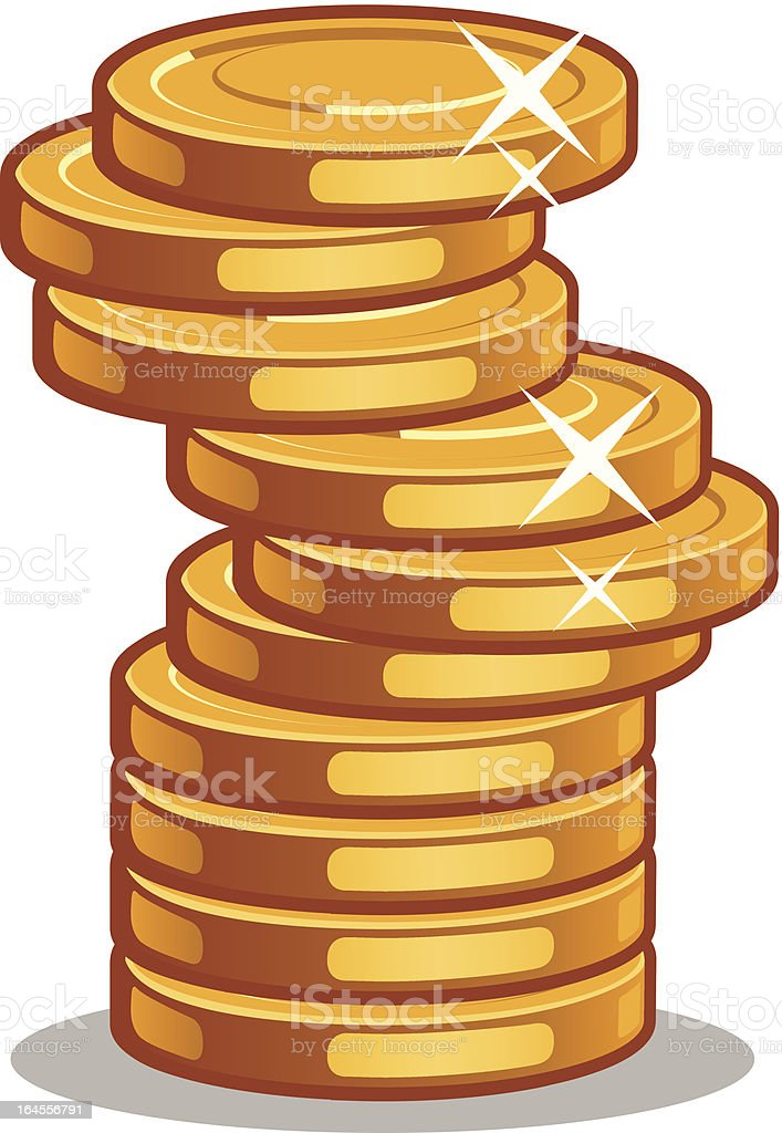 Stack Of Coins royalty-free stock vector art
