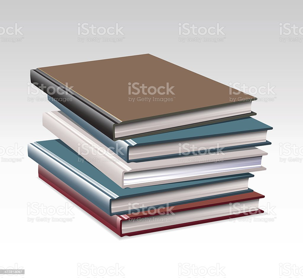 Stack of colorful Books royalty-free stock vector art