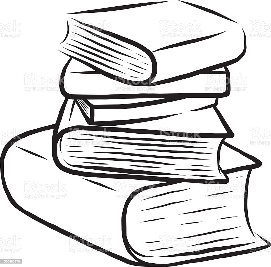 Bücherstapel clipart  Bücherstapel Vektorgrafiken und Illustrationen - iStock