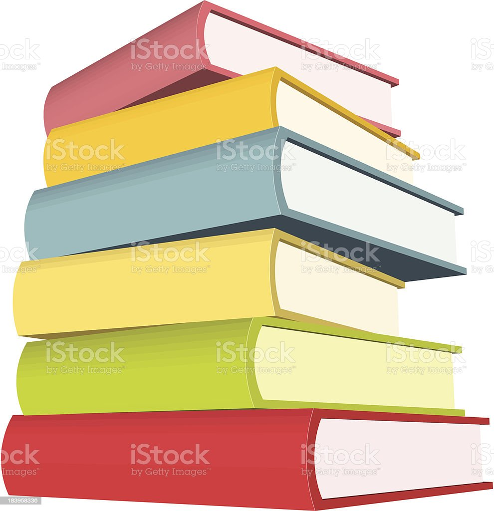Stack of huge Books - VECTOR vector art illustration