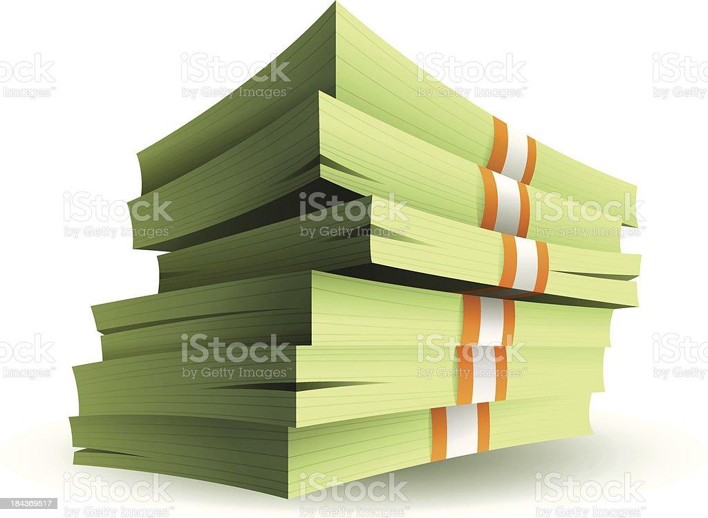 Stack of Money vector art illustration