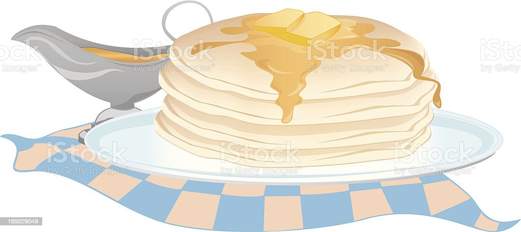 Stack of Pancakes royalty-free stock vector art