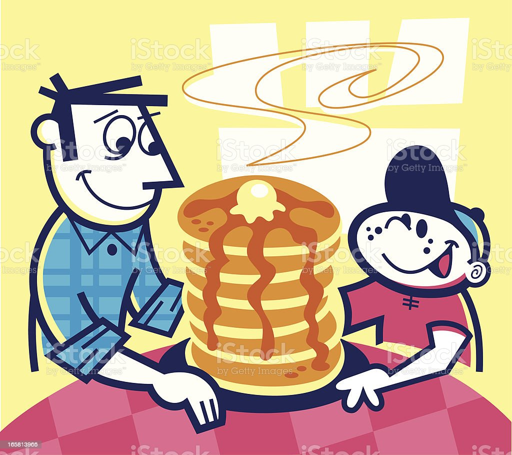 stack of pancakes! vector art illustration