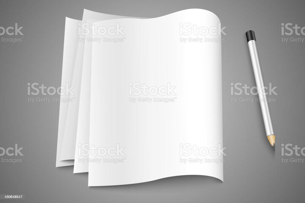 Stack of paper vector art illustration