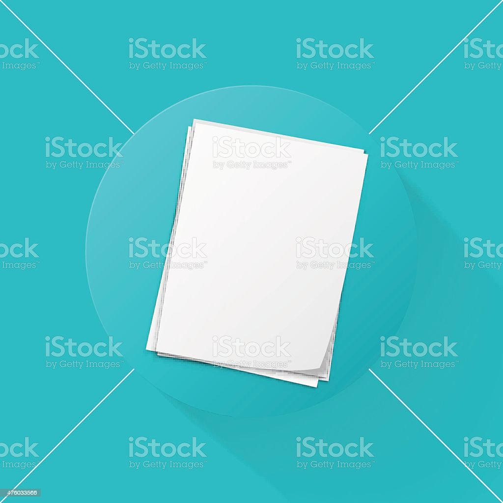 stack of papers icon vector art illustration
