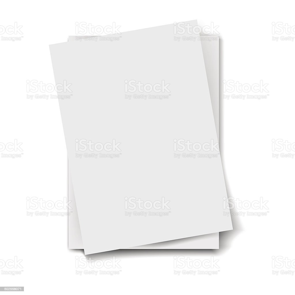 Stack of papers vector art illustration