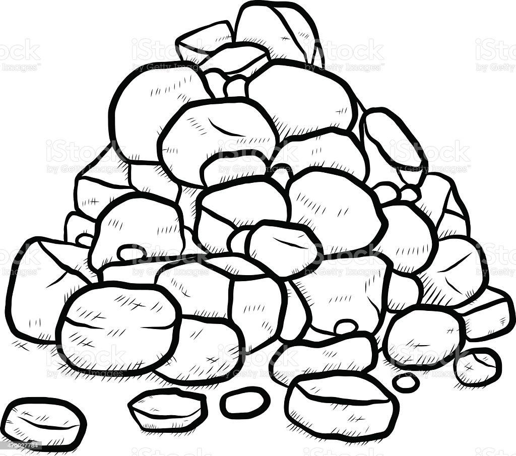stack of rock vector art illustration