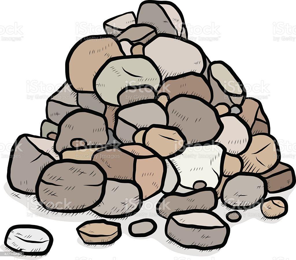 stack of rocks vector art illustration