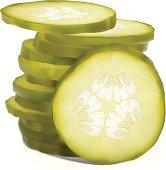 Stack Of Sliced Pickles