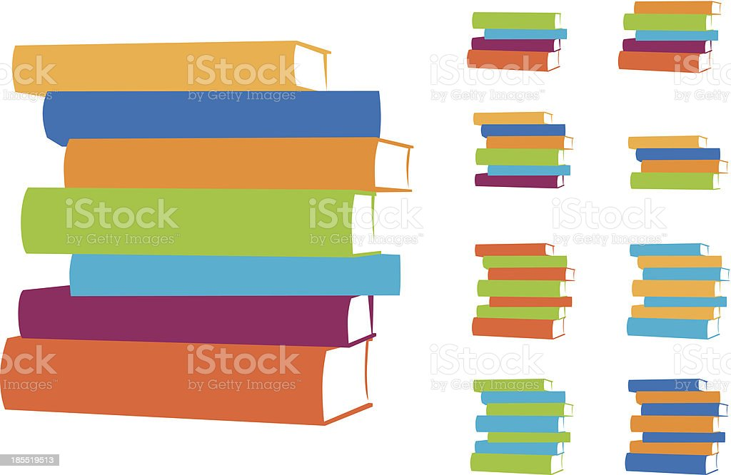 Stacked Books Vector Design Elements vector art illustration