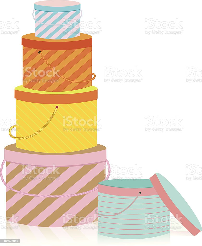 Stacked Boxes royalty-free stock vector art