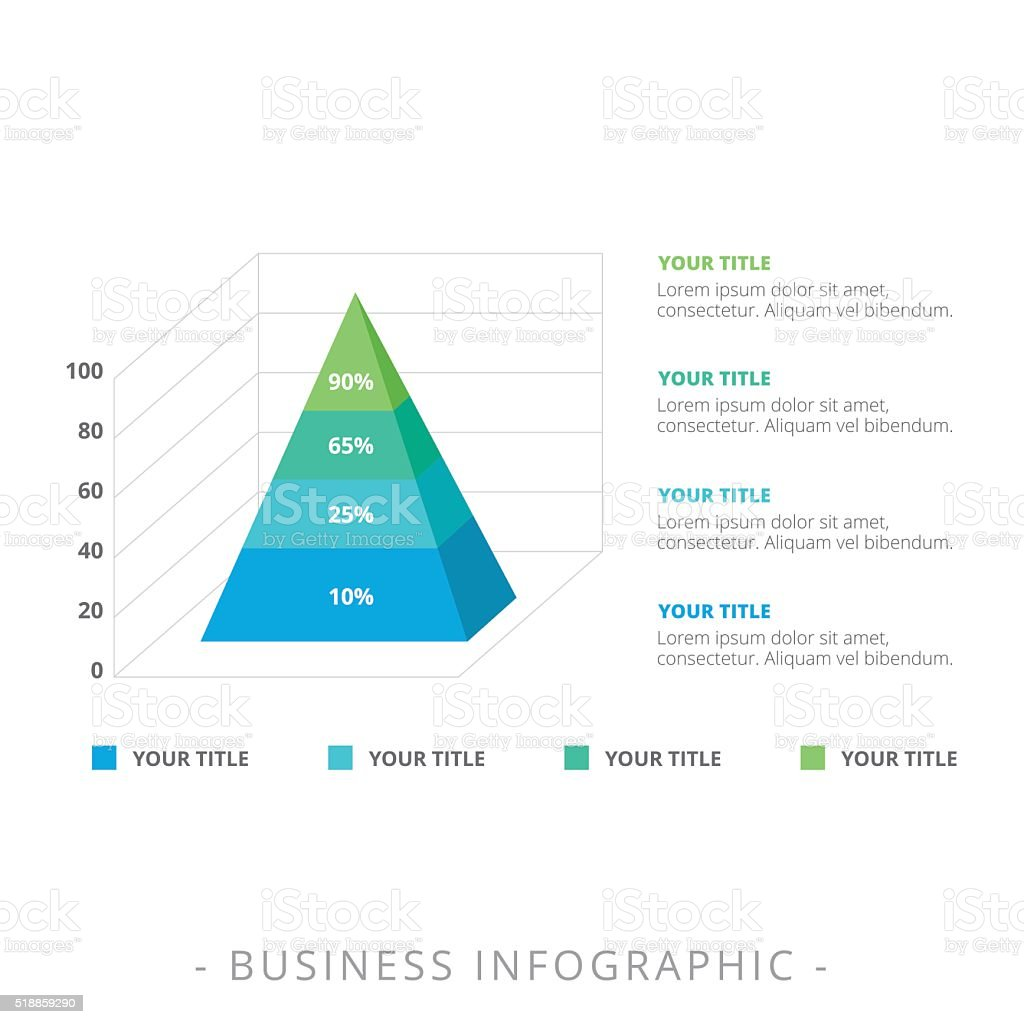 Stacked Pyramid Chart Template 1 vector art illustration