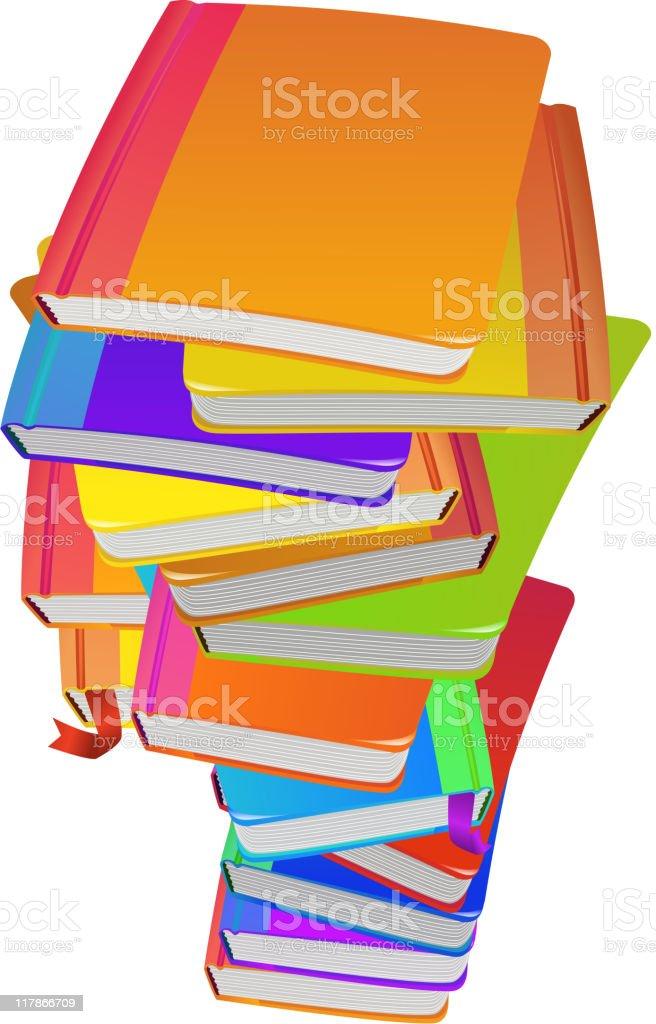 Stacks of Books royalty-free stock vector art