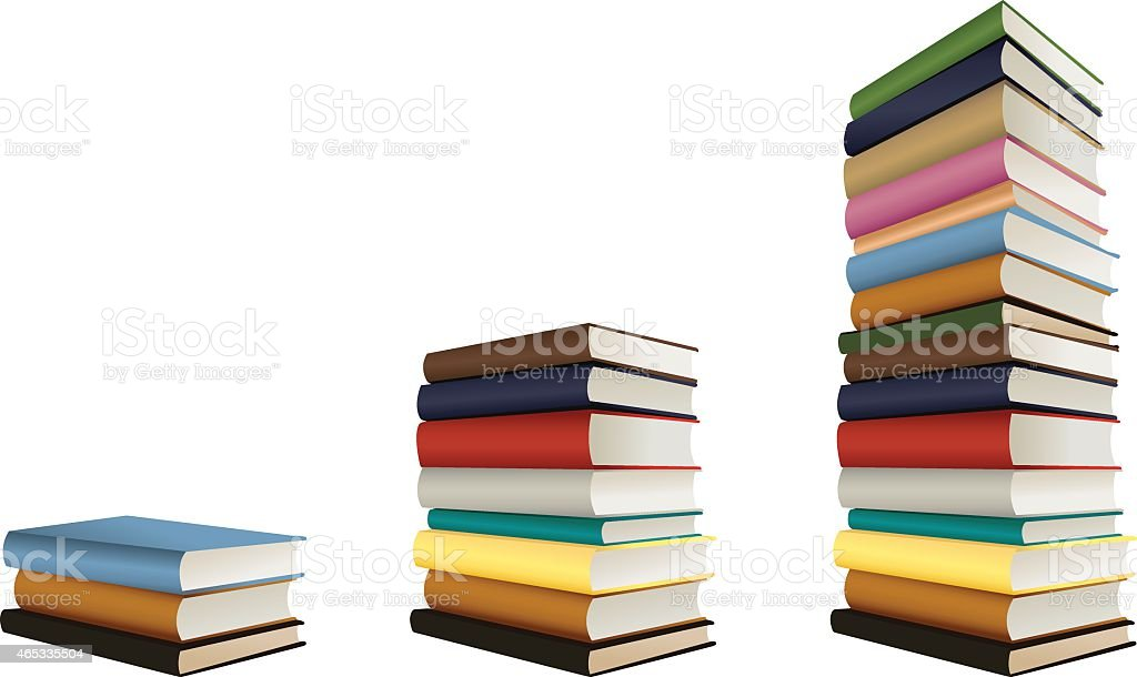 stacks of books, vector vector art illustration