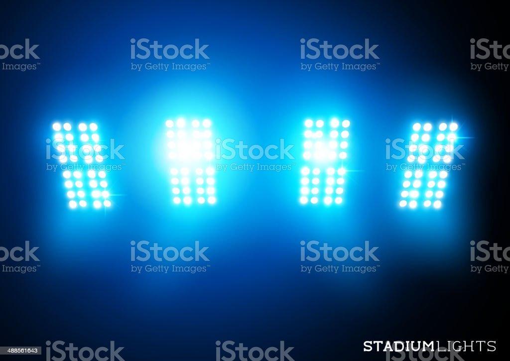 Stadium Lights (Floodlights) vector art illustration